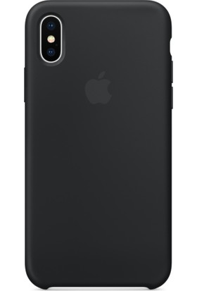 Apple iPhone X Silikon Kılıf Siyah (İthalatçı Garantili) MQT12FE/A