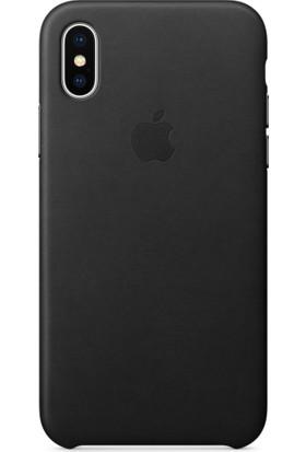 Case 4U Apple iPhone X Deri Kılıf - Siyah