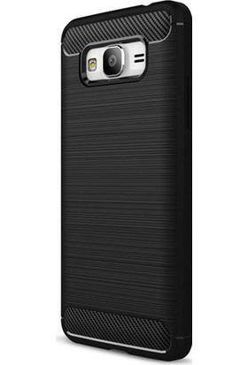 Case 4U Samsung Galaxy Grand Prime Plus Kılıf Room Tarz Silikon Kılıf Siyah