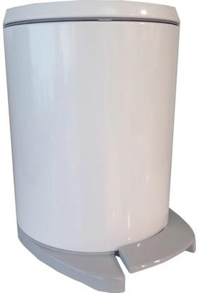 Primanova Cigo Pedallı Çöp Kovası Beyaz İç Kısım Gri M-E41-01-07