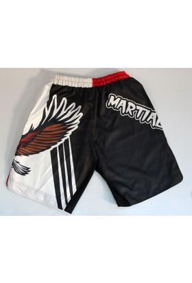 Martial Arts Kartal Figürlü Şort
