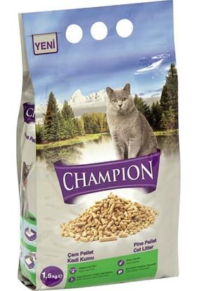 Champion 8 Adet 1,5 Kg Çam Pellet Doğal Kedi Kumu
