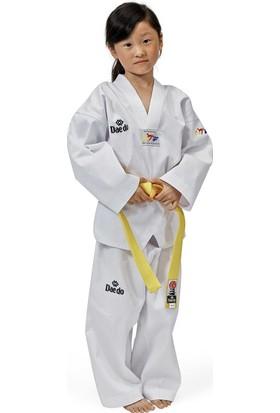 Daedo Taekwondo Elbisesi Beyaz Yaka WTF Onaylı
