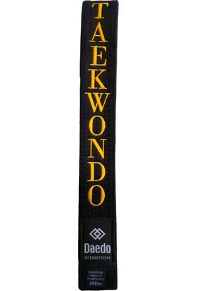 Daedo Taekwondo Siyah Kuşak Nakışlı