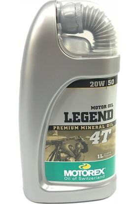Motorex 4T Motor Yağı 20W/50 Legend **1Lt** Çift Silindirli Motorlar İçin