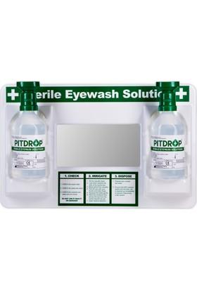 Pit Drop PDO - SW 010 Aynalı Steril Göz Solüsyonu / Yıkama Duş Seti 2 x 500 ml