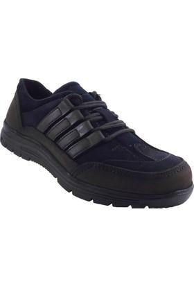 Güven Punto 577282 Lacivert Kahverengi Kışlık Erkek Ayakkabı