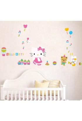 Crystal Kids Hello Kitty Çocuk Odası PVC Duvar Sticker