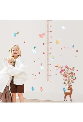 Crystal Kids Yavru Ceylan Bebek ve Çocuk Odası Boy Ölçer Duvar Sticker