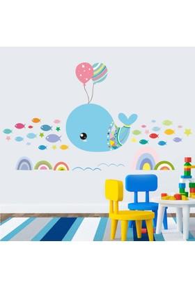 Crystal Kids Rengarenk Balıklar Çocuk ve Bebek Odası PVC Duvar Sticker