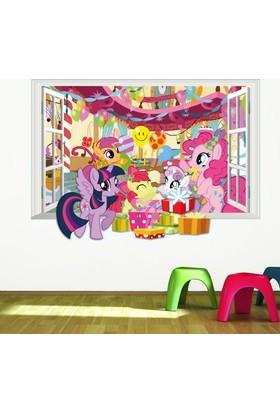 Crystal Kids My Little Pony Doğum Günü Partisi Bebek ve Çocuk Odası 3D PVC Duvar Sticker