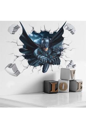 Crystal Kids Batman Betmen Çocuk ve Genç Odası 3 Boyutlu PVC Duvar Sticker