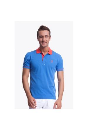 U.S. Polo Assn. G081sz011.000.71006.Mv0357 Polo Yaka Mavi T-Shirt