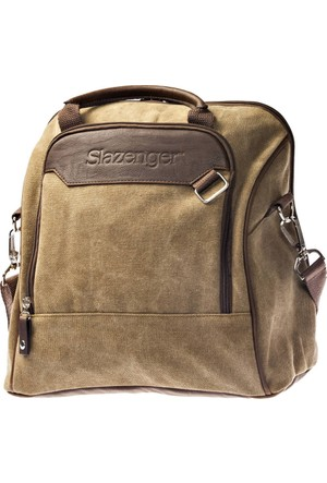 Slazenger Wuhu Hand Bag Haki Kahverengi Unisex Kol Çantası