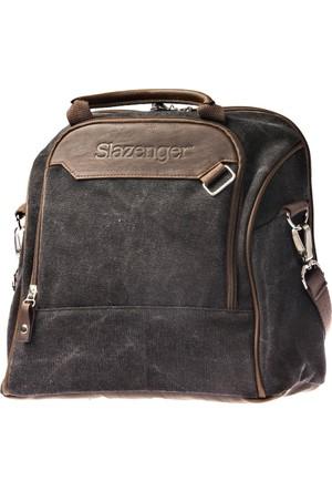 Slazenger Wuhu Hand Bag Siyah Kahverengi Unisex Kol Çantası
