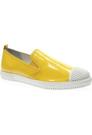 Prada 5952 Bayan Sarı Ayakkabı