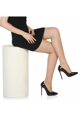 Sothe Ba-1022 Kadın Siyah Rugan Topuklu Stiletto