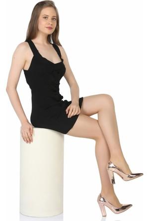 Sothe Ba-1023 Kadın Rose Ayna Kalın Topuklu Stiletto