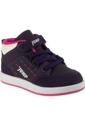Jump 16789 Bağlı Tek Çırt Mor Çocuk Ayakkabı