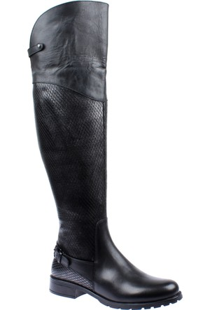 Venüs Hakiki Deri Kadın Çizme Vns 1705201 Siyah