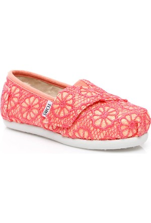 Toms Kadın Crochet Glttr Tn Alpr Espadril Ayakkabı 10007414.CORAL