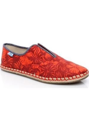 Toms Kadın Multi Canvas Hıbıscus Wm Palm Slip-on Ayakkabı 10007900.RED