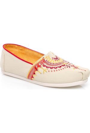Toms Kadın Beaded Embroidery Wm Alpr Espadril Ayakkabı 10008014.NATURAL