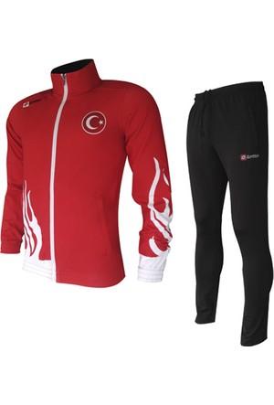 Lotto Suit Fire Pl Red/White/Black Eşofman Takımı (Milli Takım) R