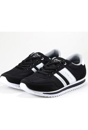 Parley Bayan Spor Ayakkabı Siyah Beyaz