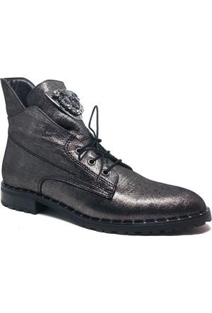 Shop and Shoes Bayan Bot Gümüş Simli 001-310617