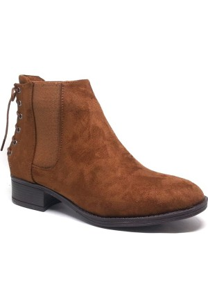 Shop and Shoes Bayan Bot Taba Süet 171-504