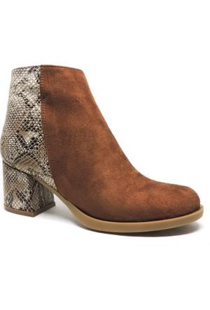 Shop and Shoes Bayan Bot Taba Süet 173-20404
