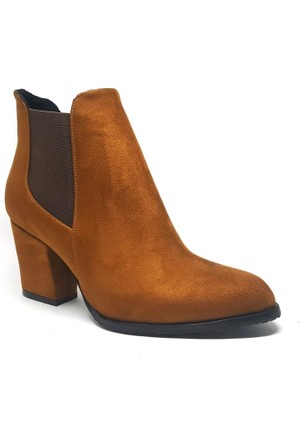 Shop and Shoes Bayan Bot Taba Süet 194-1820