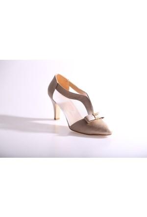 Beety 02 Kadın Yanları Transparan Topuklu Ayakkabı