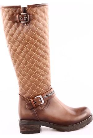 Dgn 2016-14 Kadın Kapitone Knee High Çizme