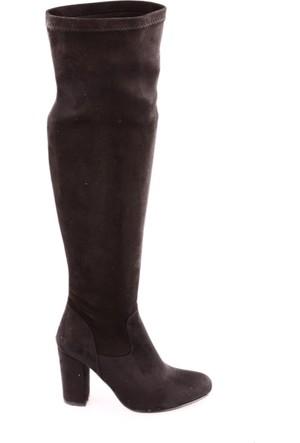 Dgn 150 Kadın Lita Topuklu Thigh High Stretch Çizme