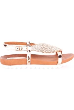 Dgn 368 Kadın Taşlı Parmak Arası Sandalet