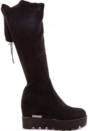 Guja 17K1037 Kadın Gizli Topuk Eva Taban Thigh High Stretch Çizme