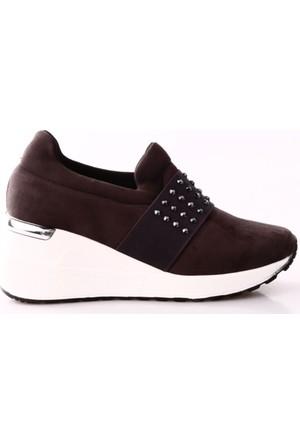 Park Moda K2811 Kadın Dolgu Taban Önü Lastik Sneakers Ayakkabı
