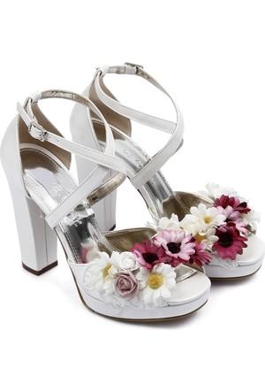 Gön Kadın Sandalet Beyaz 94747
