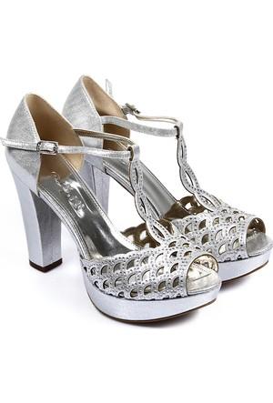 Gön Kadın Sandalet Gümüş 94755
