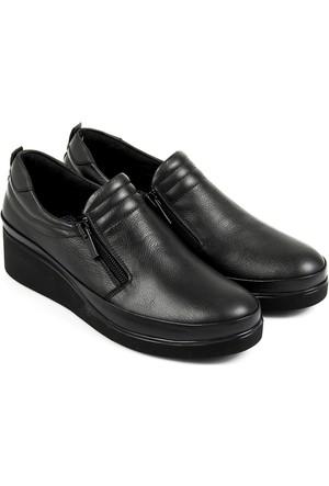 Gön Deri Kadın Ayakkabı Siyah 32020