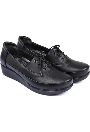 Gön Deri Kadın Ayakkabı Siyah 36010