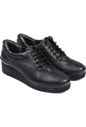 Gön Deri Kadın Ayakkabı Siyah 36019