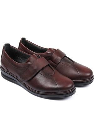 Gön Deri Kadın Ayakkabı Bordo 42251