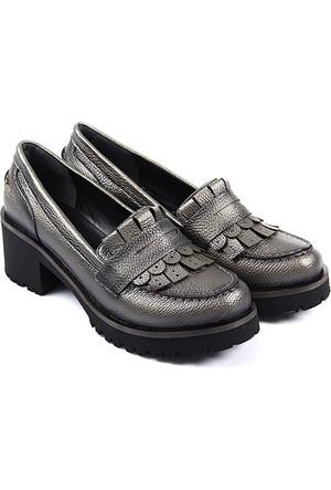 Gön Kadın Ayakkabı Platin 55401