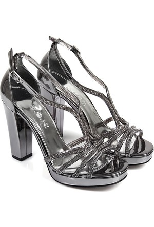 Gön Kadın Ayakkabı Platin 94763