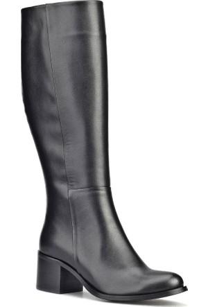 Cabani Fermuarlı Kadın Çizme Siyah