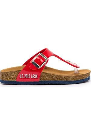 U.S. Polo Assn. Kız Çocuk Y7Bite Terlik Kırmızı