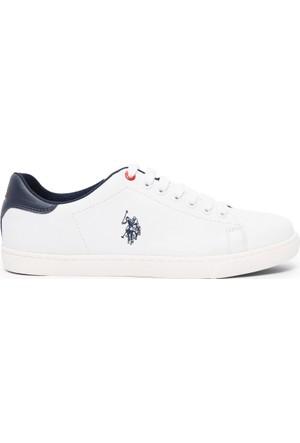 U.S. Polo Assn. Erkek Y7Maggy Sneaker Ayakkabı Beyaz